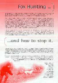 Fox Hunting and How to Stop It Leaflet - front